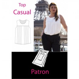 Patron Femme Top casual