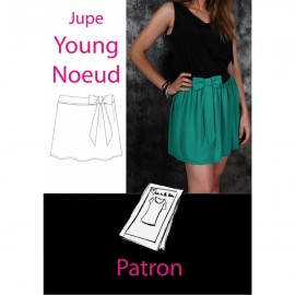 Patron Jupe Young Noeud
