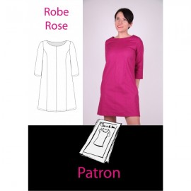 """Pink dress"" sewing pattern - pink"