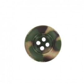 Polyester button, camouflage - multicolored