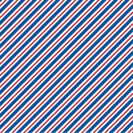 Fabric Pépé in Paris A blue x 10cm