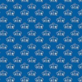 Tissu British Invasion couronnes blue x 10cm