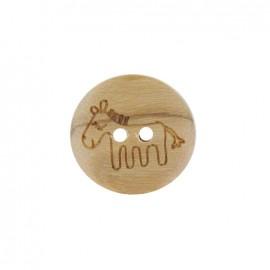 Bouton bois naturel cheval