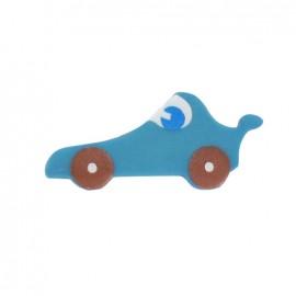 Bouton polyester voiture de course lagon