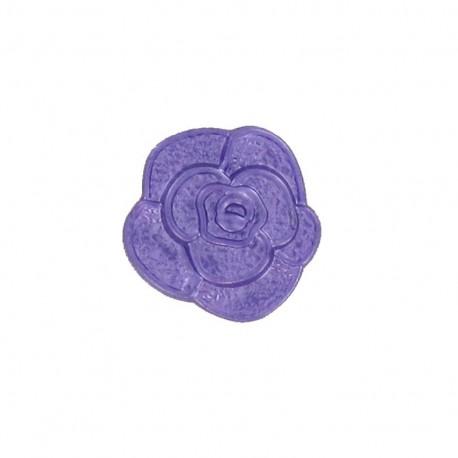 Bouton Polyester Fleur effet moulé violet
