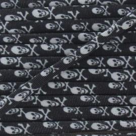 Cordon Maillot de Bain Tête de Mort - Noir x 1m