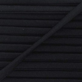 Spaghetti Elastic Cord 5mm, plain - black