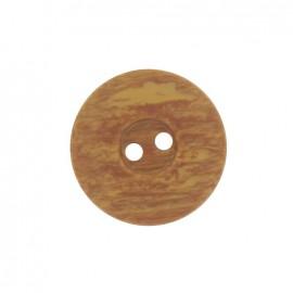 Bouton polyester aspect bois brun