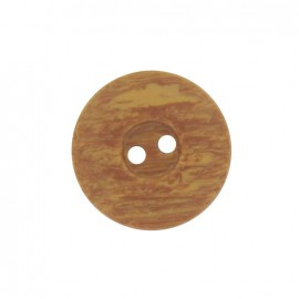 Polyester button, wood aspect - brown