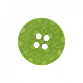 Polyester button, Morocco - green