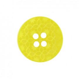 Bouton polyester Morocco jaune