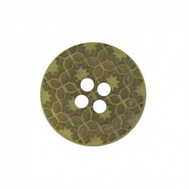 Bouton polyester Morocco vert kaki