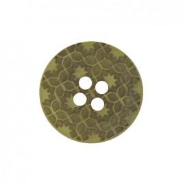 Polyester button, Morocco - khaki