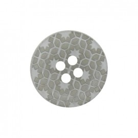 Polyester button, Morocco - grey