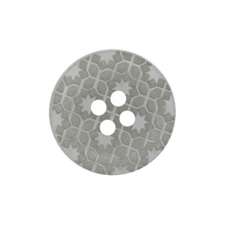 Bouton polyester Morocco gris