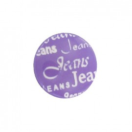 Bouton polyester jeans violet