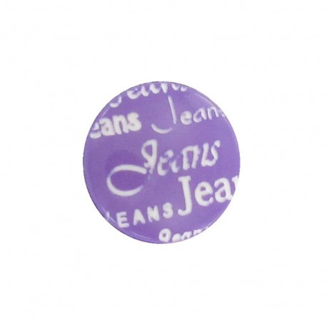 Polyester button, jeans - purple