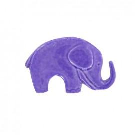 Bouton métal éléphant violet