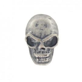 Metal button, hamlet - silver