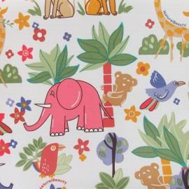 Tissu toile PVC fantaisie jungle x 47cm