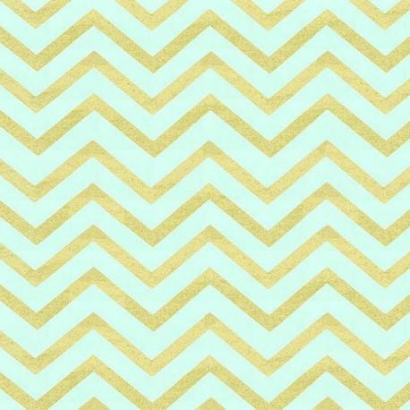 Fabric Glitz chevron mist x 10cm