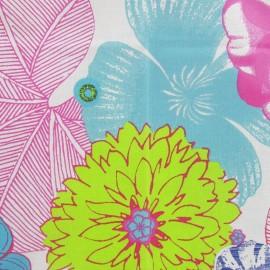 Tissu enduit coton bahamas multicolore x 10cm