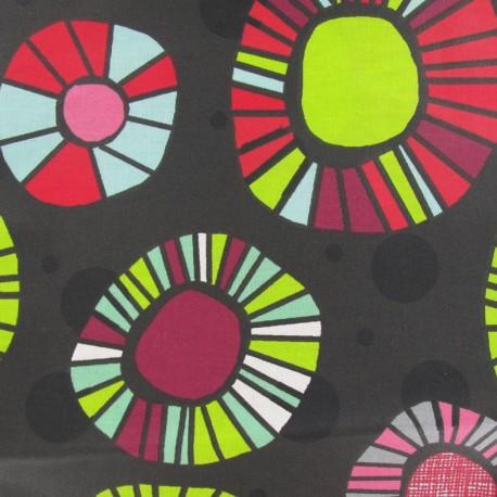 tissu enduit coton artifice gris anthracite x 10cm ma petite mercerie. Black Bedroom Furniture Sets. Home Design Ideas