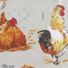 Tissu enduit coton gaulois ficelle x 30cm