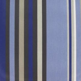 Tissu enduit coton Vianne bleu  x 10cm