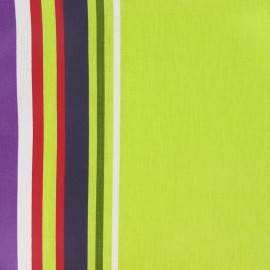 ♥ Only one piece 230 cm X 150 cm ♥ Vianne Coated Cotton Fabric - lime