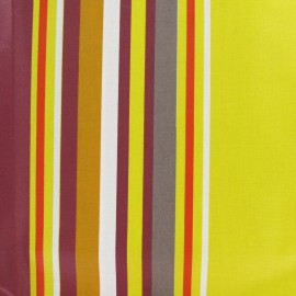 Tissu enduit coton Vianne jaune/orange x 10cm