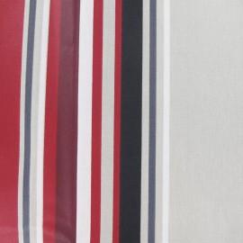 Tissu enduit coton Vianne beige/rouge x 10cm