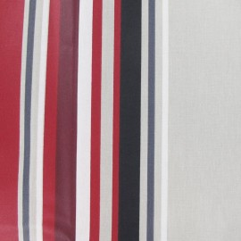 Vianne Coated Cotton Fabric - beige/red x 10cm