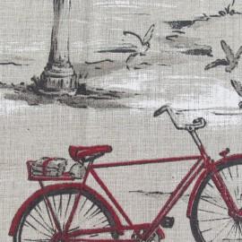 Tissu lin Bicyclette x 10cm