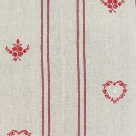 Linen Fabric casket -ecru x 10cm