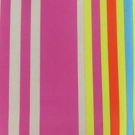 Tissu toile polyester impression digitale Manael multicolore x 10cm cm