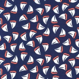 Tissu The Littles Sailboats navy x 10cm