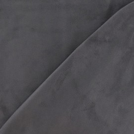 Elastane Suede Fabric - Anthracite Grey x 10cm