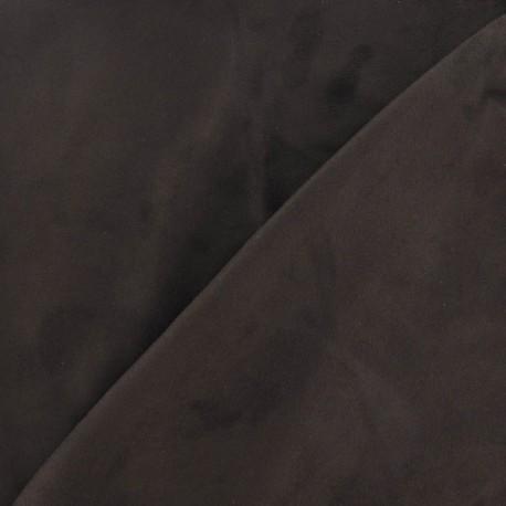 Elastane Suede Fabric - Brown x 10cm