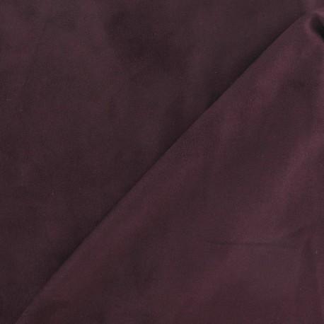 Elastane Suede Fabric - Wine x 10cm