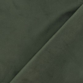 Elastane Suede Fabric - Dark Khaki x 10cm