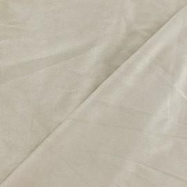 Tissu Suédine élasthanne beige x 10cm