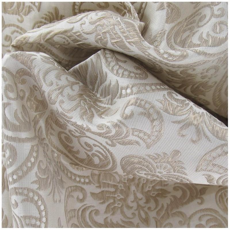 tissus pas cher tissu damass baroque dor. Black Bedroom Furniture Sets. Home Design Ideas