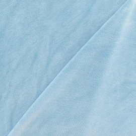 Towelling jersey velvet fabric - dragée blue x 10cm