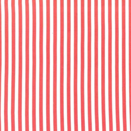 Fabric Clown stripe fire x 10cm