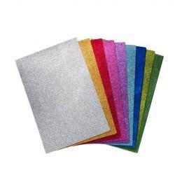 Feuille de mousse créative paillettée (9 coloris)
