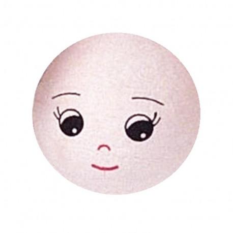 Visage poupée en coton