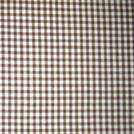 ♥ Coupon 100 cm X 145 cm ♥ Tissu Vichy petits carreaux chocolat