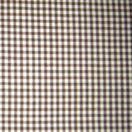 Small checked Vichy fabric - chocolate x 10cm