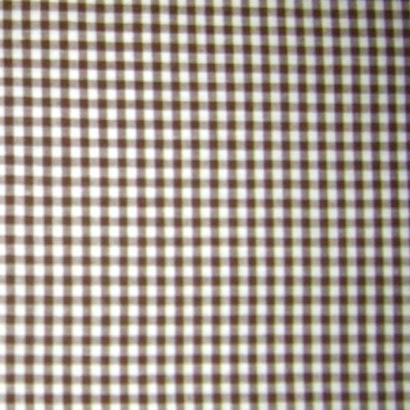 Small checked Vichy fabric - chocolate x 10cm